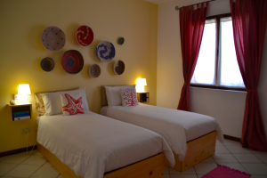 You can choose between two single beds or one double-bed