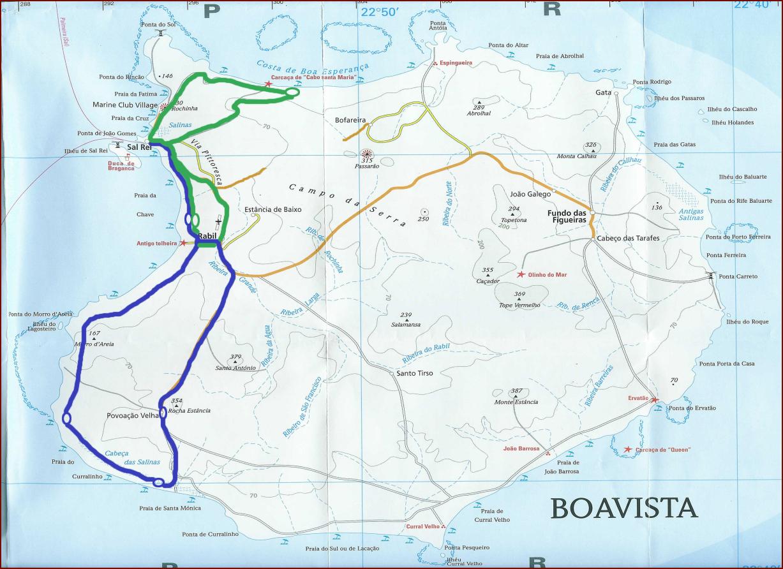 mapa tour quad